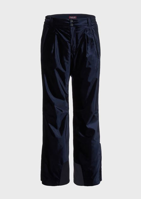 Technical ski pants in waterproof velvet