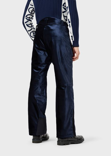 Technical ski trousers in waterproof velvet