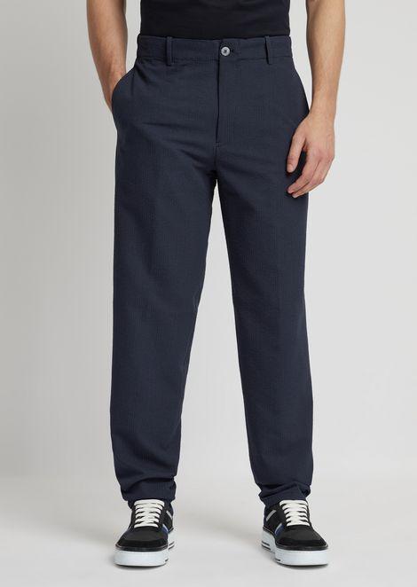 Pantalones de tejido sirsaca con estampado milrayas
