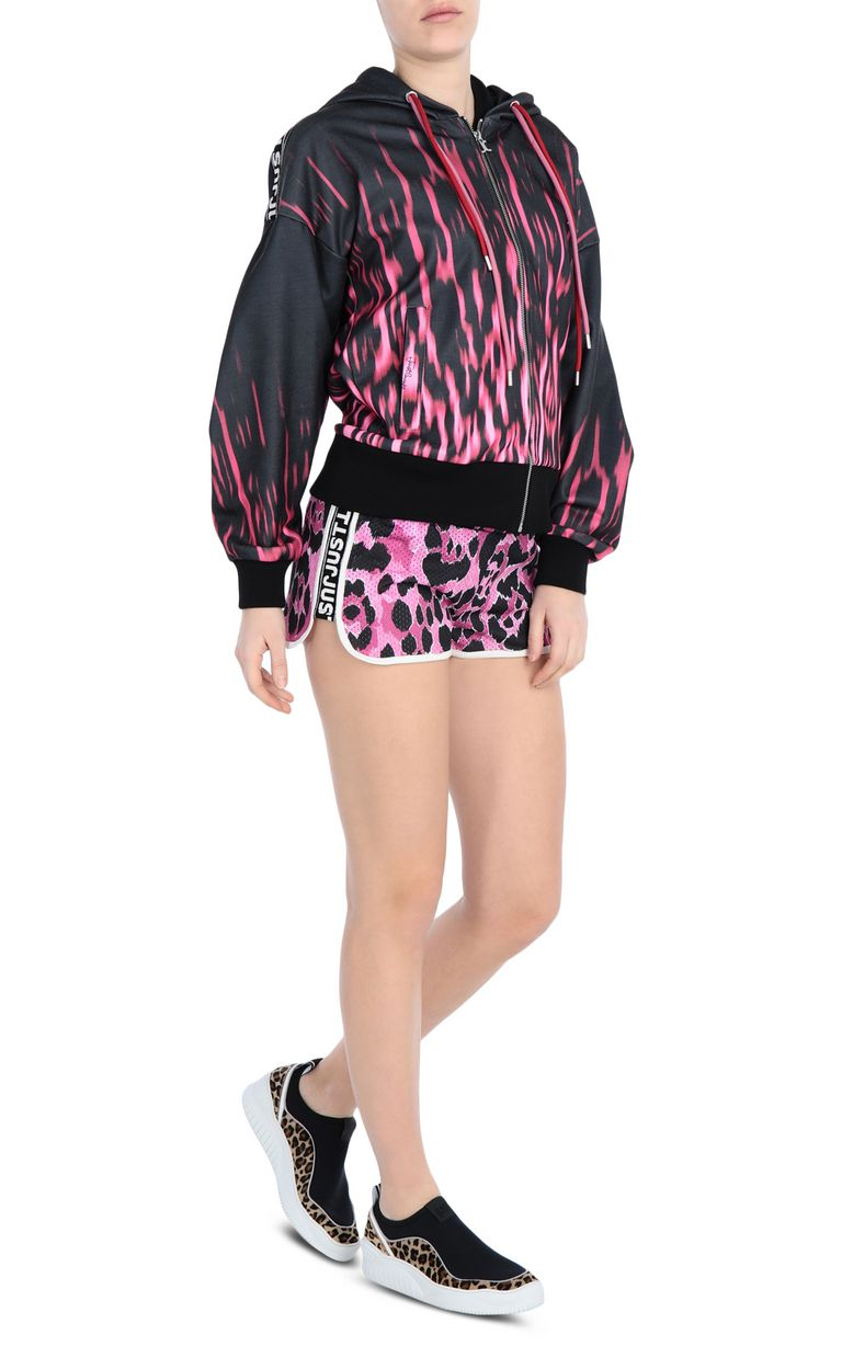 JUST CAVALLI Jersey shorts with a panther print Shorts Woman d