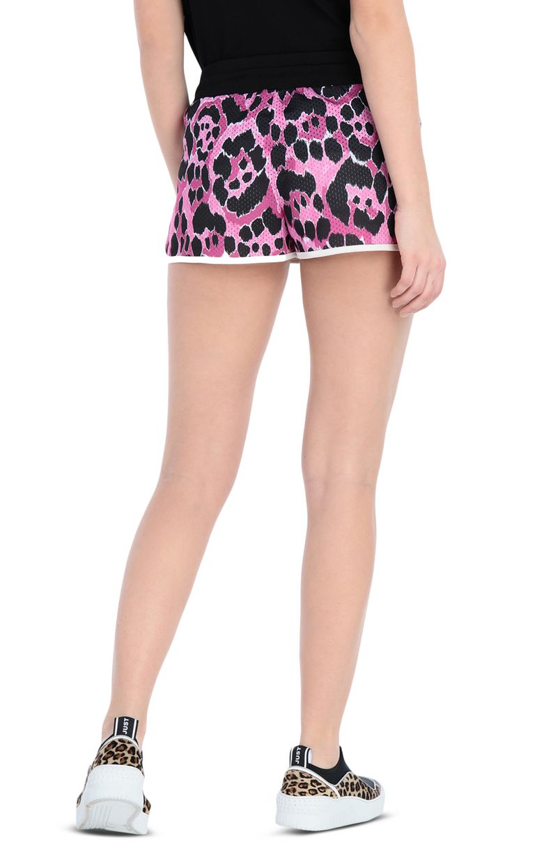 JUST CAVALLI Jersey shorts with a panther print Shorts [*** pickupInStoreShipping_info ***] r