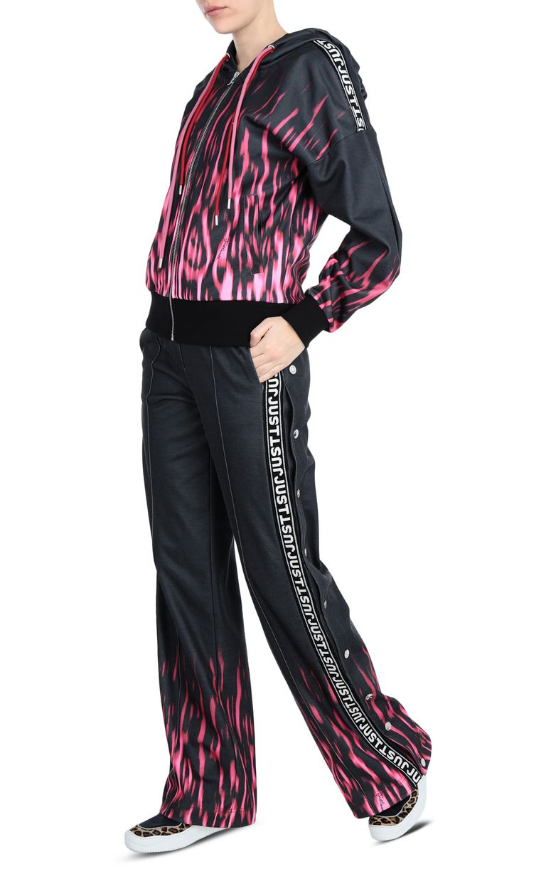 JUST CAVALLI Fading leopard-spot logo trousers Casual pants [*** pickupInStoreShipping_info ***] d