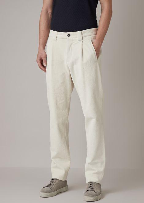Pantalones de corte holgado en terciopelo de pana sirsaca secado en prenda