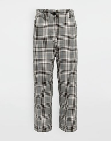 MM6 MAISON MARGIELA Pantalon [*** pickupInStoreShipping_info ***] Pantalon en mélange de laine à carreaux f