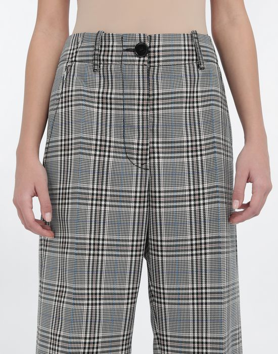 MM6 MAISON MARGIELA Checked wool-blend pants Casual pants [*** pickupInStoreShipping_info ***] a