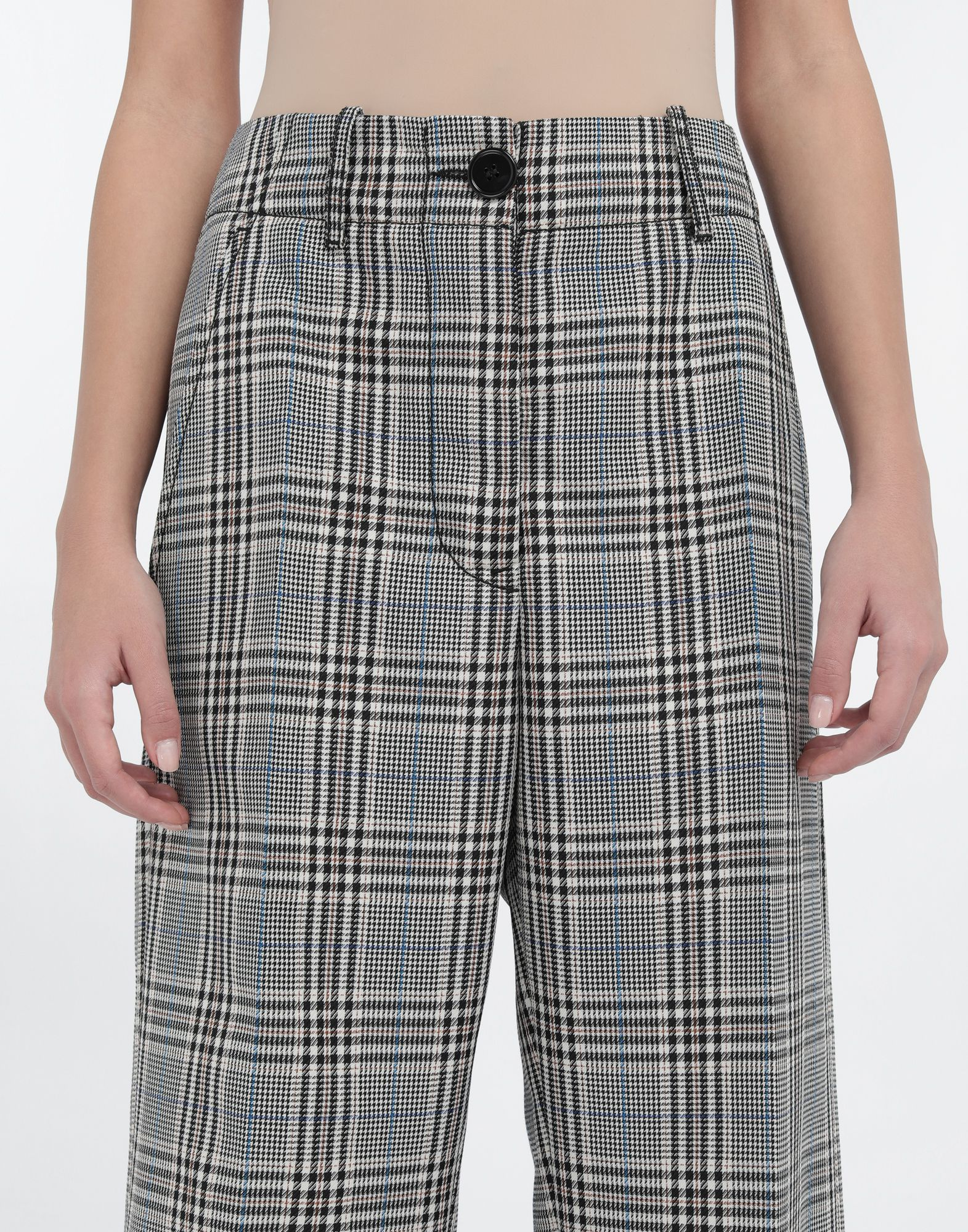 MM6 MAISON MARGIELA Checked wool-blend pants Casual pants Woman a