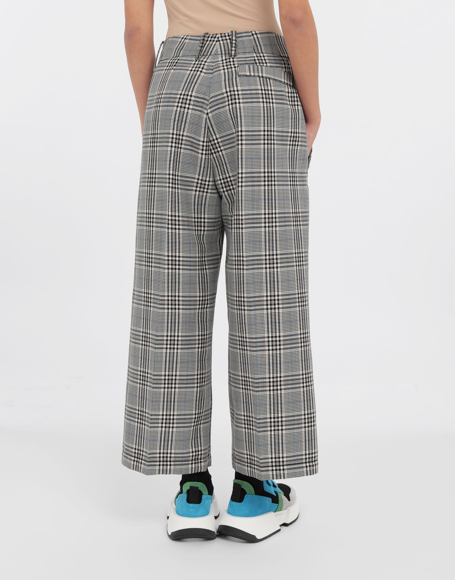 MM6 MAISON MARGIELA Checked wool-blend pants Casual pants Woman e