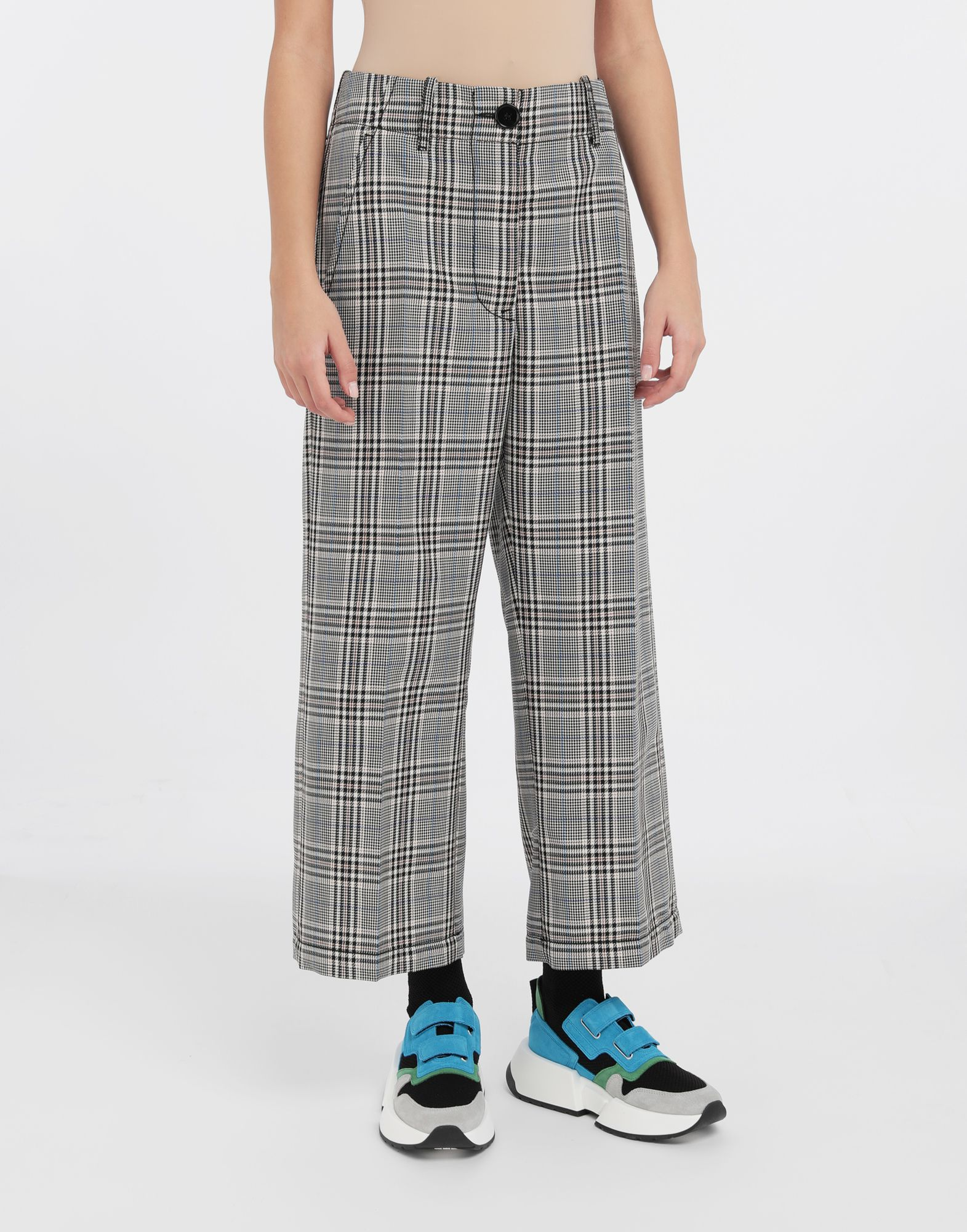MM6 MAISON MARGIELA Checked wool-blend pants Casual pants Woman r