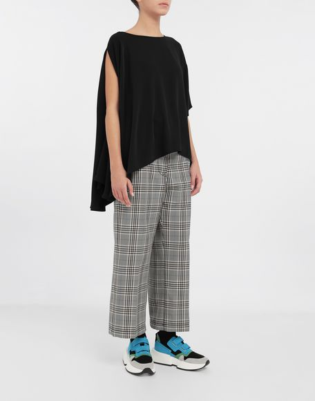 MM6 MAISON MARGIELA Checked wool-blend pants Casual pants Woman d