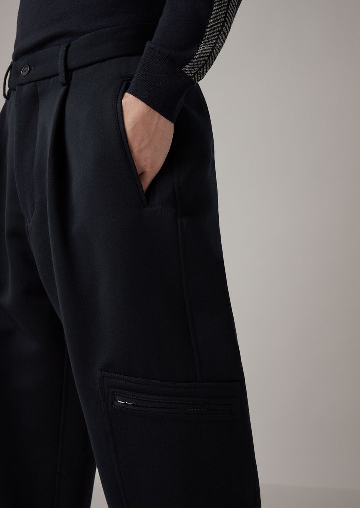 5ea296467745f3 ... Oversized pants in double-sided garment-washed and tumbled drill.  GIORGIO ARMANI
