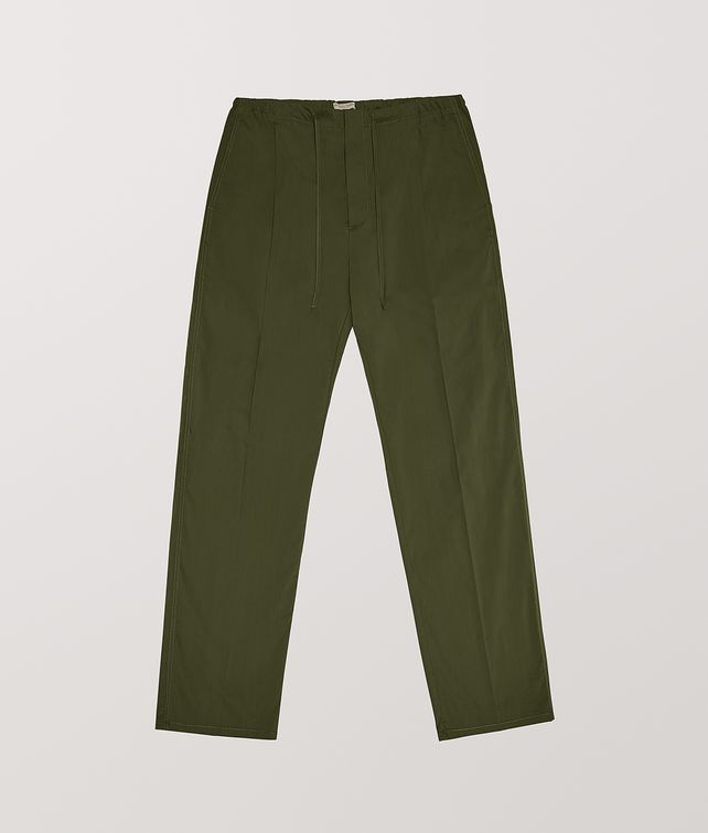 BOTTEGA VENETA TROUSERS IN TECHNO COTTON Trousers and Shorts Man fp