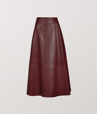 SKIRT IN CALF LEATHER