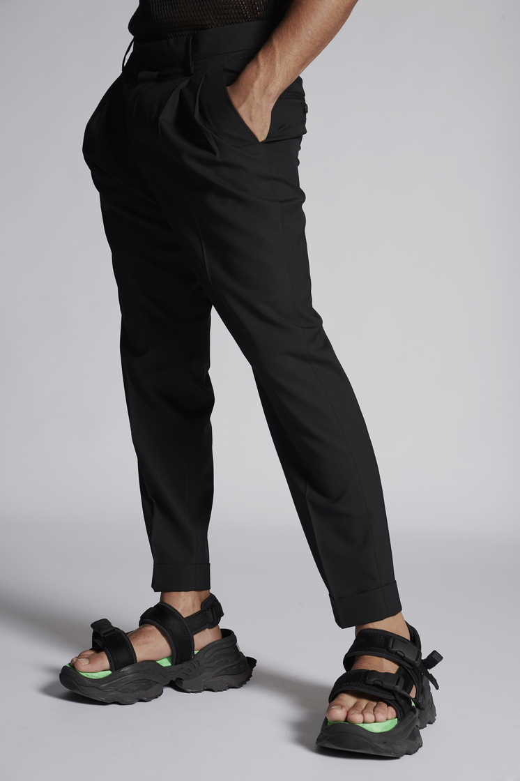 DSQUARED2 Stretch Wool Two Pleats Pant Trousers Man