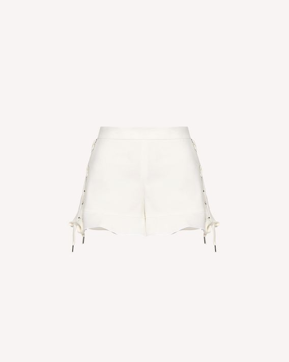 REDValentino Lacing detail stretch cotton shorts