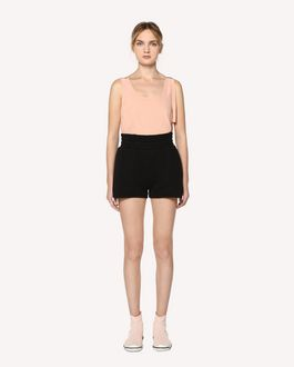 "REDValentino ""Lucky One"" embroidered jersey shorts"