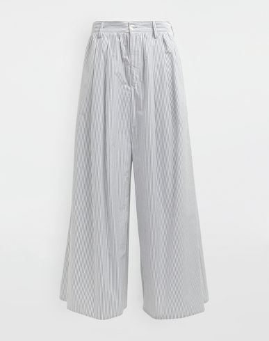 MM6 MAISON MARGIELA Casual pants [*** pickupInStoreShipping_info ***] Flared striped cotton pants f