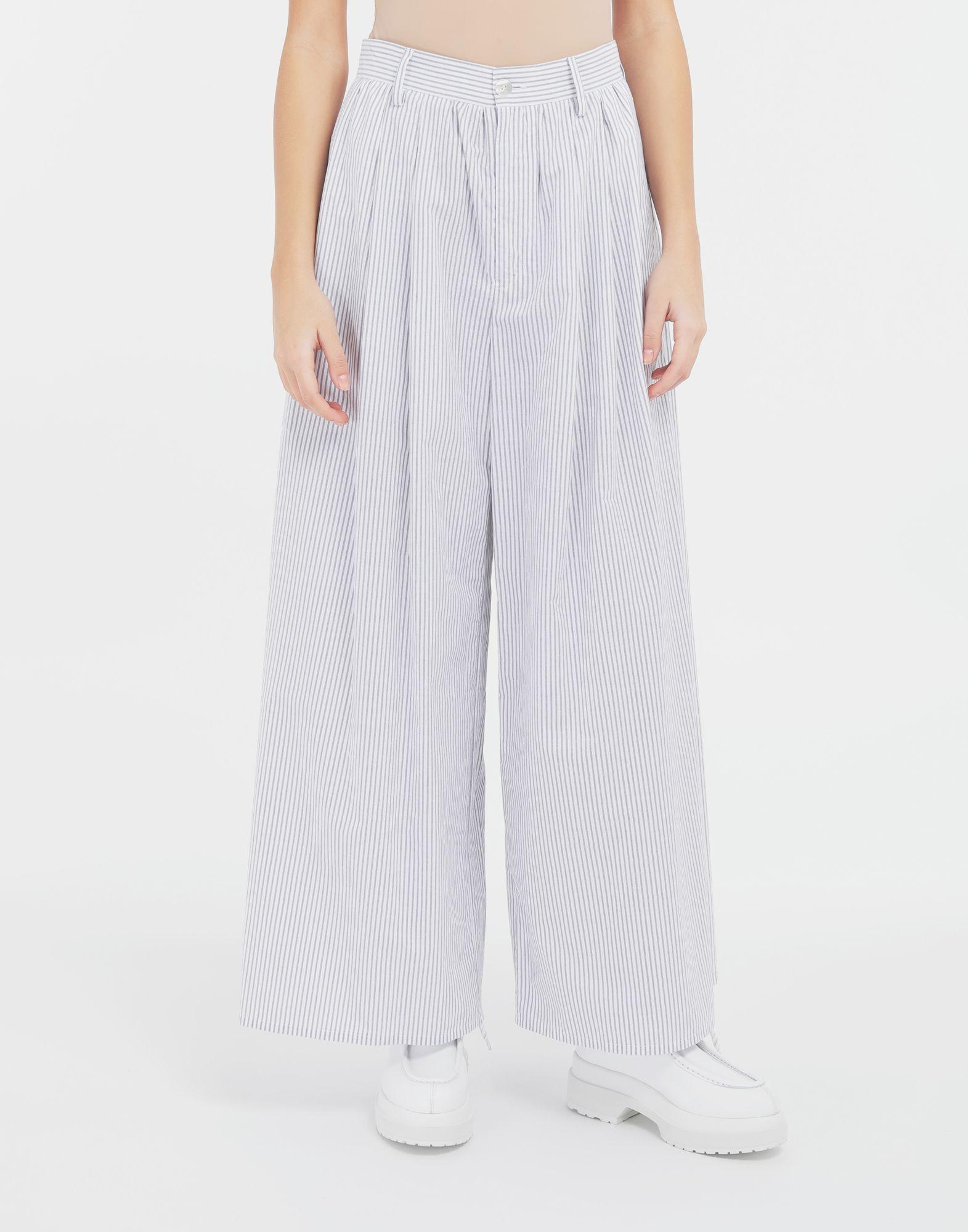 MM6 MAISON MARGIELA Flared striped cotton pants Trousers Woman r