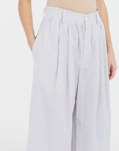 MM6 MAISON MARGIELA Flared striped cotton pants Trousers Woman a
