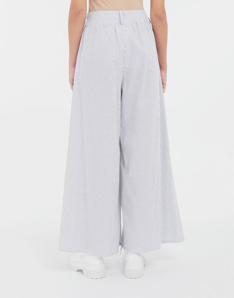 MM6 MAISON MARGIELA Flared striped cotton pants Trousers Woman e