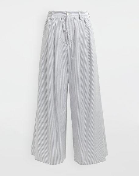 MM6 MAISON MARGIELA Flared striped cotton pants Trousers Woman f