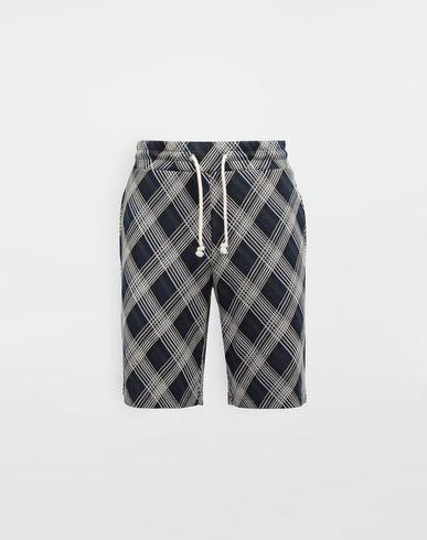 MAISON MARGIELA Shorts in jersey a quadretti Shorts [*** pickupInStoreShippingNotGuaranteed_info ***] f