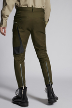 DSQUARED2 Cotton Sexy Cargo Pant With Shiny Military Logo Print  Брюки Для Мужчин