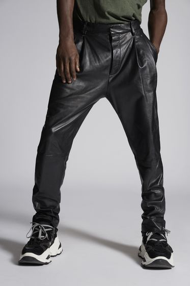 DSQUARED2 Leather trousers Man S71KB0157SY1352900 b