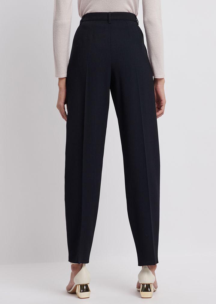 3fe039b612 Stretch wool crêpe pants with pleats