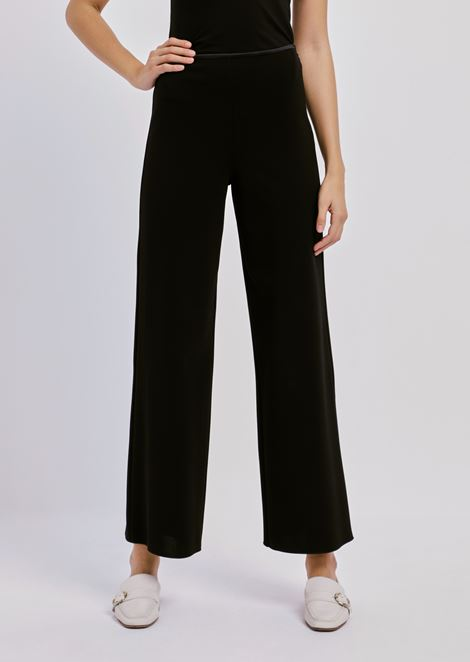 Palazzo pants in micro ottoman stretch