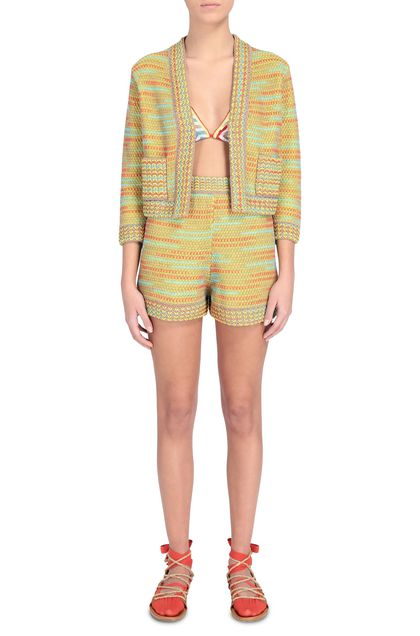 M MISSONI Shorts Ochre Woman - Back