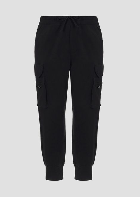 Jogging pants in full Roma stitch with cargo pockets
