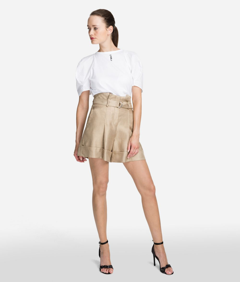 KARL LAGERFELD High-Waist Shorts Shorts Woman f