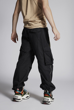 DSQUARED2 Cotton Combat Cargo Pants With Zip Details Брюки Для Мужчин