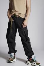 DSQUARED2 Cotton Combat Cargo Pants With Zip Details Trousers Man