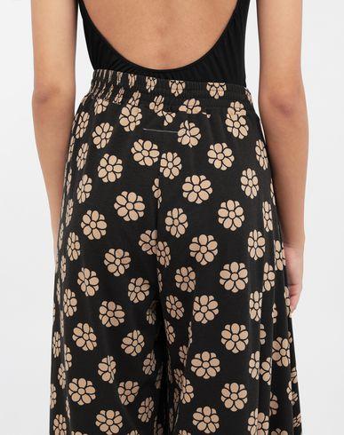 PANTS Polka dot flower-print pants
