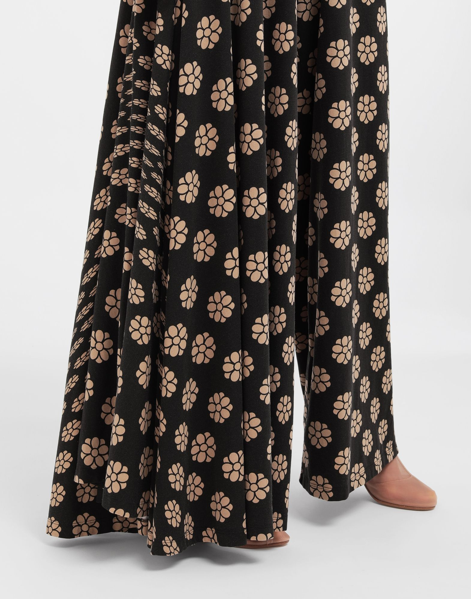 MM6 MAISON MARGIELA Polka dot flower-print pants Trousers Woman a
