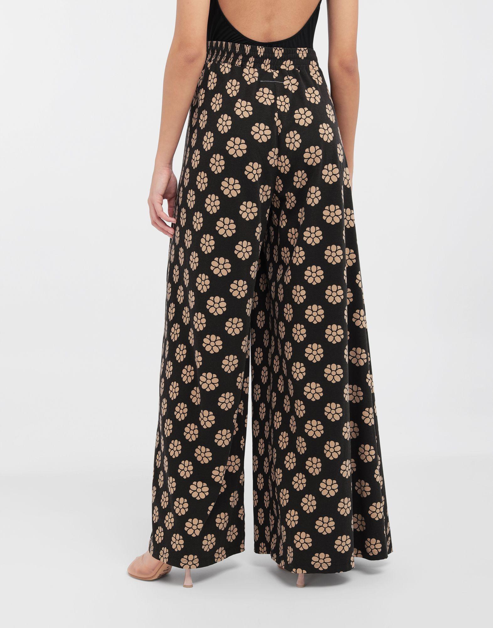 MM6 MAISON MARGIELA Polka dot flower-print pants Trousers Woman e