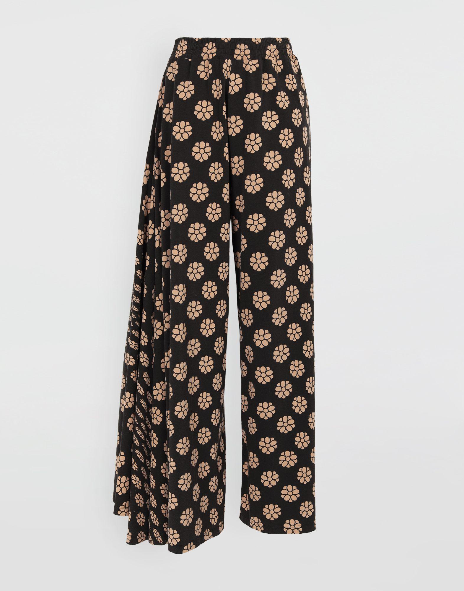 MM6 MAISON MARGIELA Polka dot flower-print pants Trousers Woman f