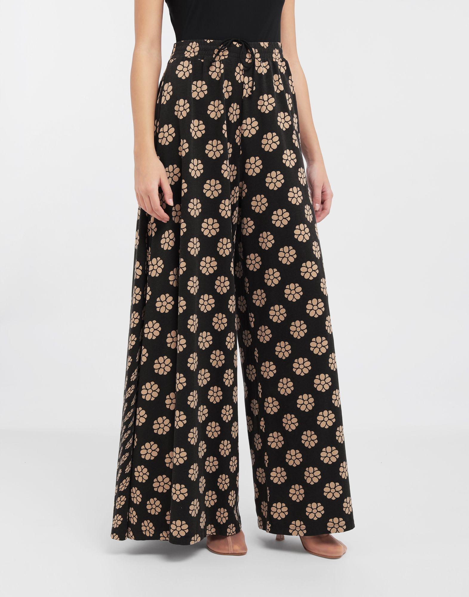MM6 MAISON MARGIELA Polka dot flower-print pants Trousers Woman r