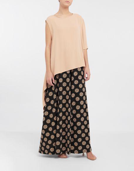 MM6 MAISON MARGIELA Polka dot flower-print pants Trousers Woman d