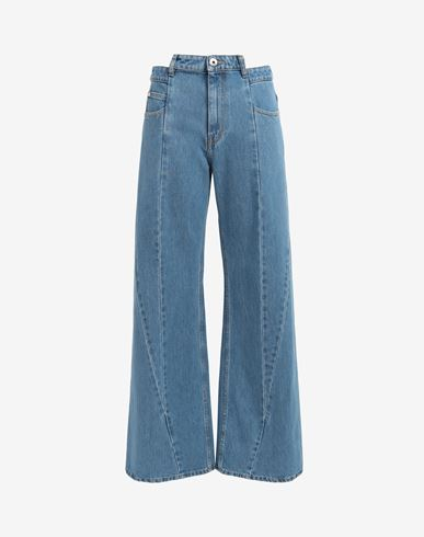 MAISON MARGIELA Décortiqué asymmetric wide-leg pants Jeans [*** pickupInStoreShipping_info ***] f