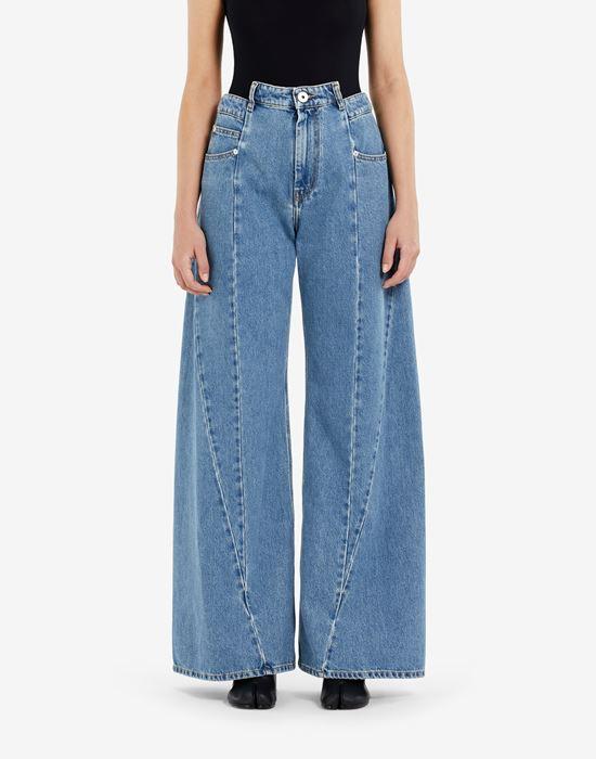 MAISON MARGIELA Décortiqué asymmetric wide-leg pants Jeans [*** pickupInStoreShipping_info ***] a