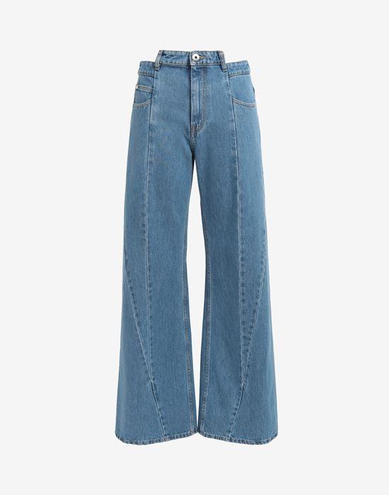 MAISON MARGIELA Décortiqué asymmetric wide-leg pants Jeans [*** pickupInStoreShipping_info ***] f