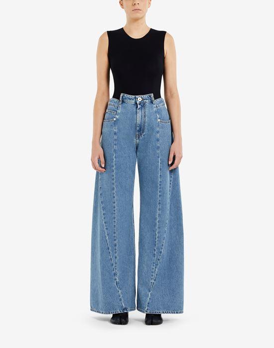 MAISON MARGIELA Décortiqué asymmetric wide-leg pants Jeans [*** pickupInStoreShipping_info ***] r
