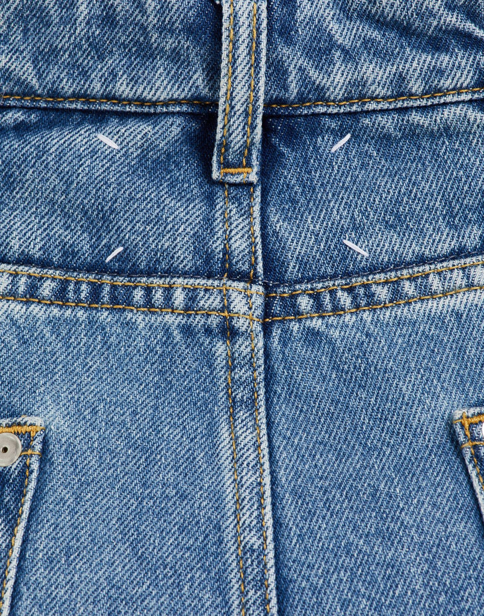 MAISON MARGIELA Décortiqué asymmetric wide-leg pants Jeans Woman b