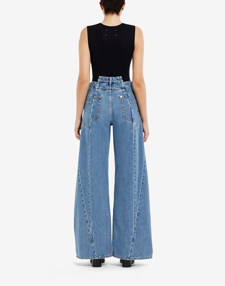 MAISON MARGIELA Décortiqué asymmetric wide-leg pants Jeans Woman e