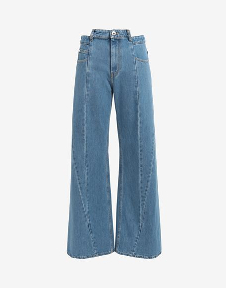 MAISON MARGIELA Décortiqué asymmetric wide-leg pants Jeans Woman f