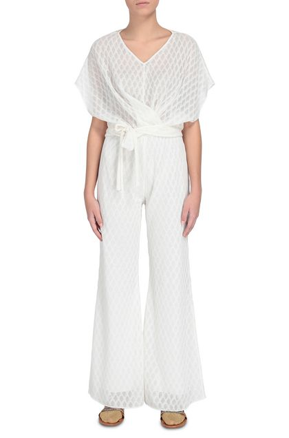 M MISSONI Pants Ivory Woman - Back