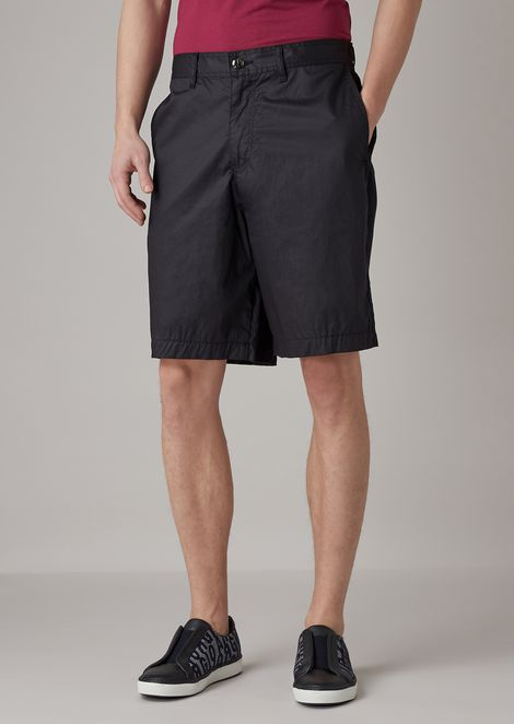 Bermuda shorts in 4 oz typewriter cotton