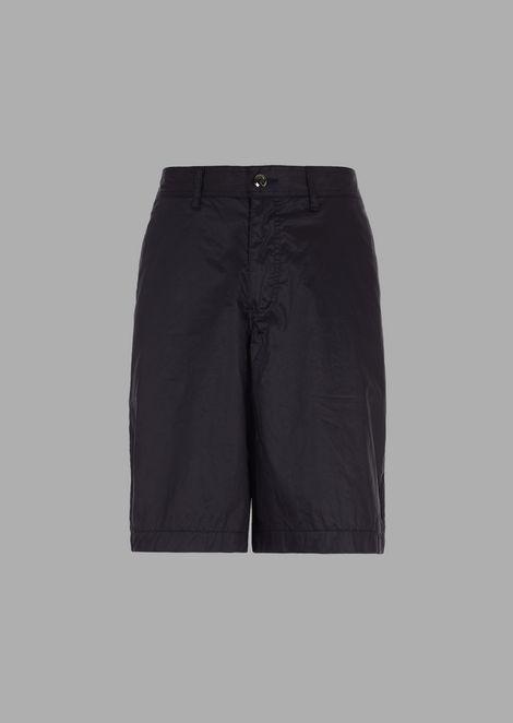 Bermuda shorts in 4 oz typewriter cotton